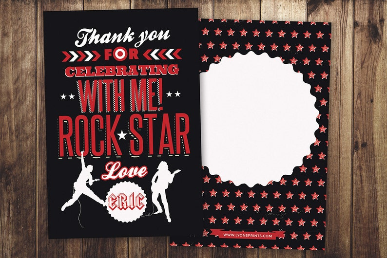 Thank You Card  Greeting Card  All occasion card  rockstar SAMPLE PHOTO