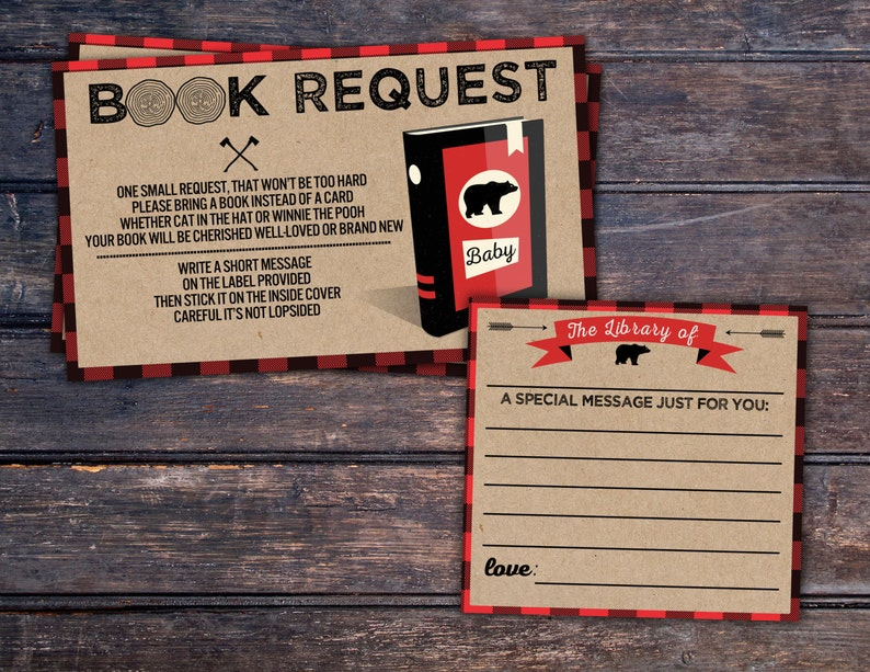 Book request Digital file only Lumberjack Baby Shower image 0