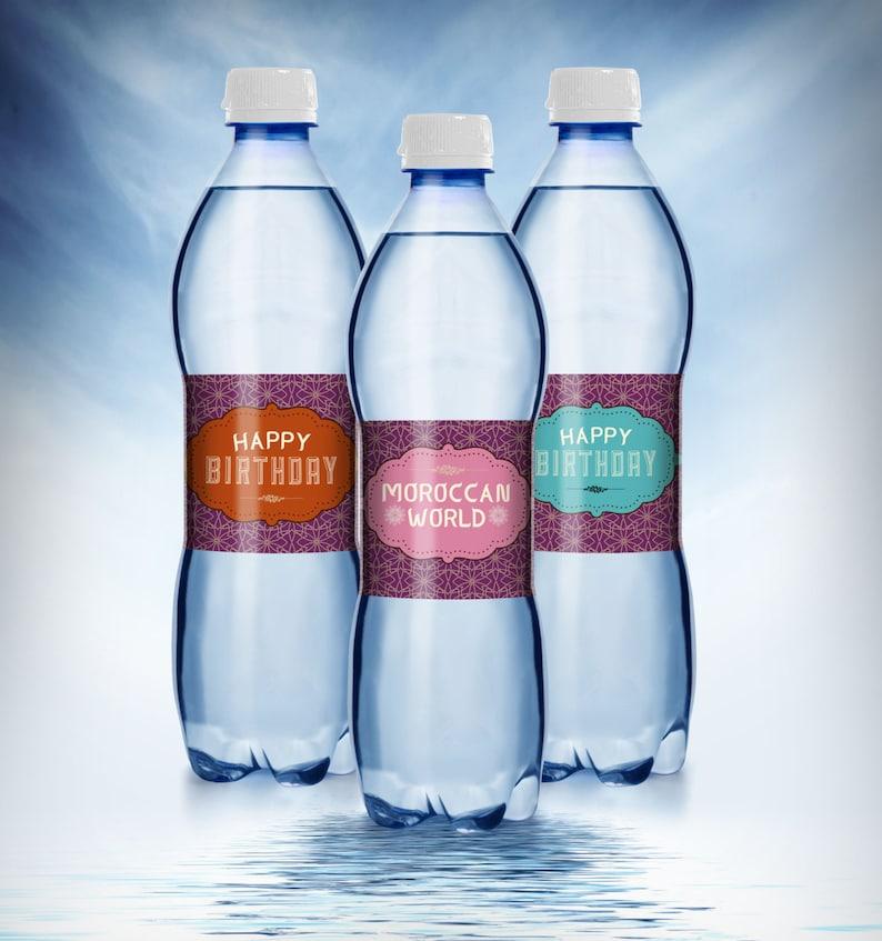 water labels Moroccan birthday Girl birthday travel image 1