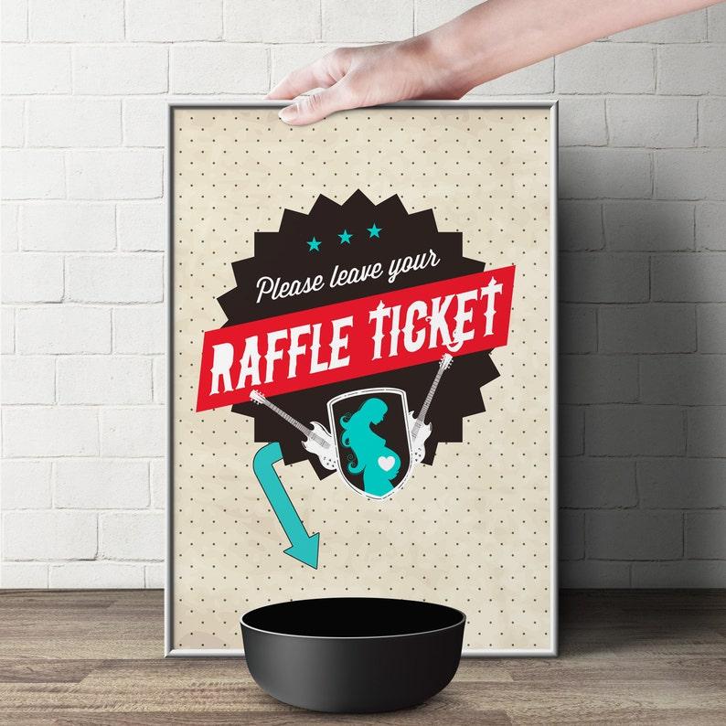 Diaper Raffle Sign ROCKSTAR Printable File Only image 1