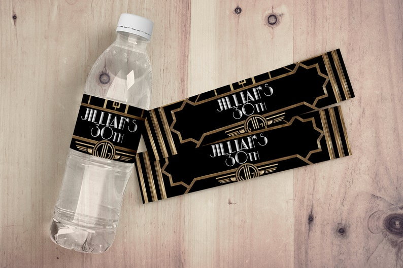 Custom water Labels party decor party decorations party image 0