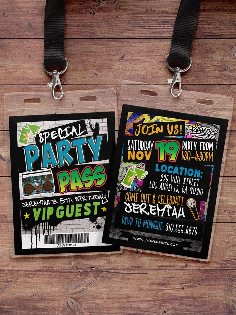 Hip Hop Swagger VIP PASS backstage pass Vip invitation image 0