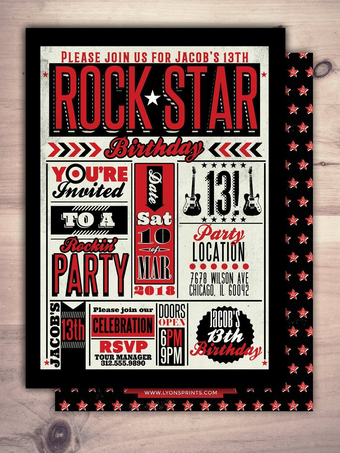 rock star invitation pop star invitation rock star party pop star