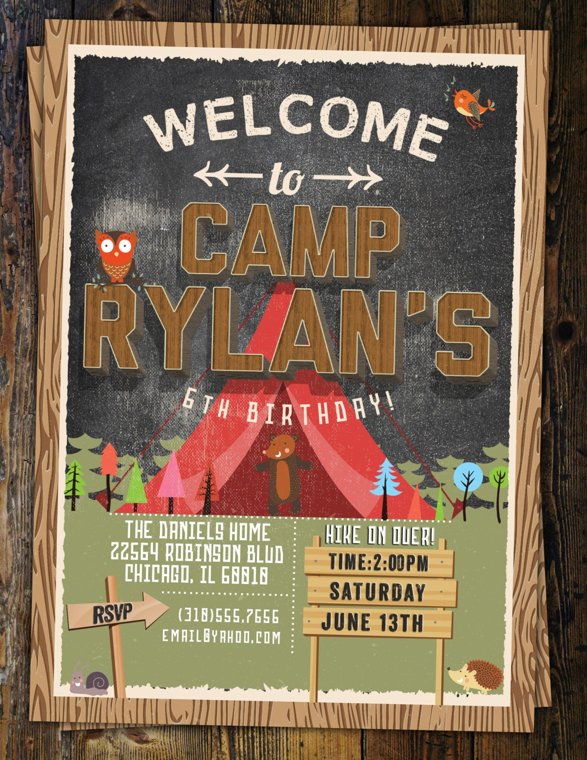Camp birthday camping birthday animals invitation invite camp birthday camping birthday animals invitation invite outdoor adventure party wilderness lumberjack boy scout kids birthday filmwisefo