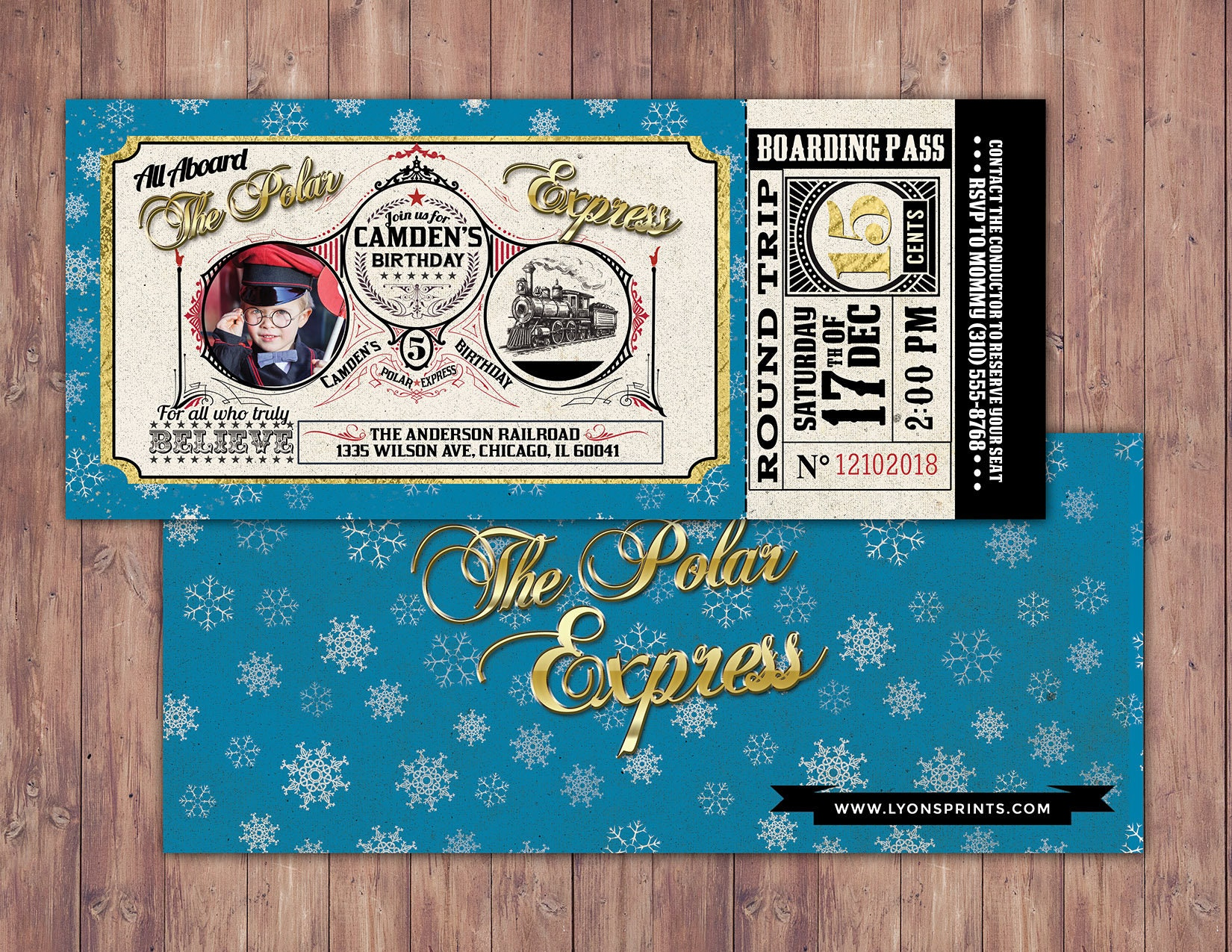 Canny Printable Polar Express Tickets Boarding Passes Bates S