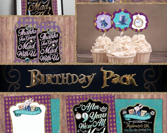 Mad Hatter Tea Party, Alice in Wonderland Invitation / Birthday Invitation / Printable for Birthday or Wedding / coed Baby shower