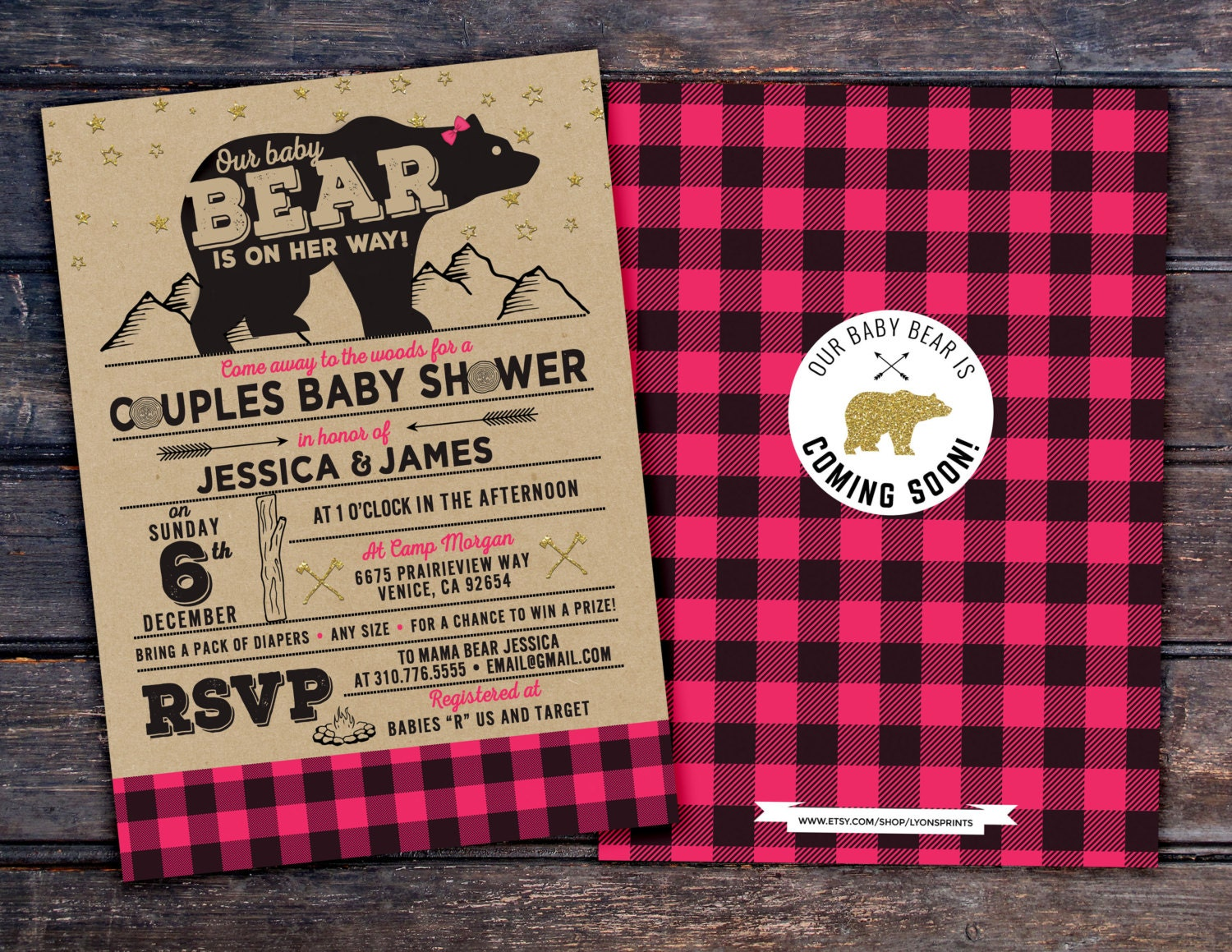 Lumberjack Baby Shower Invitation // Buffalo Plaid Woodland Baby ...