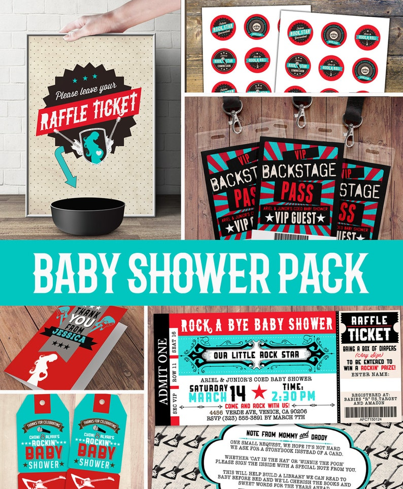 Party pack party decorations Coed baby shower invitation SAMPLE PHOTO 1