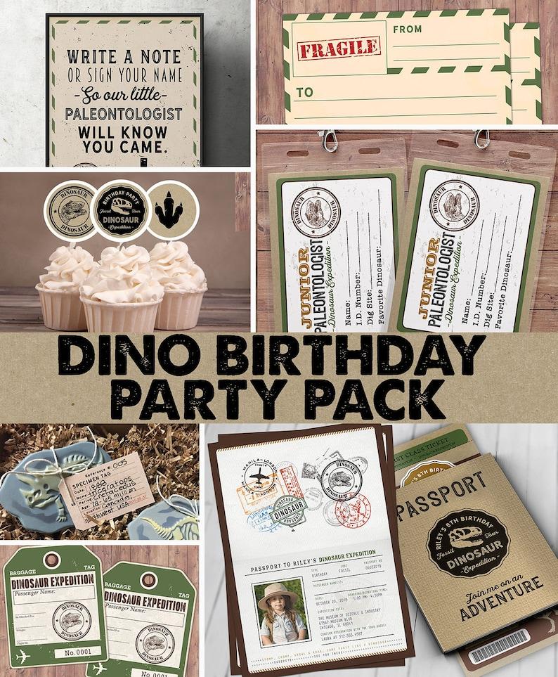 Dinosaur Dig Party party pack Dinosaur Birthday Invitation SAMPLE PHOTO 1