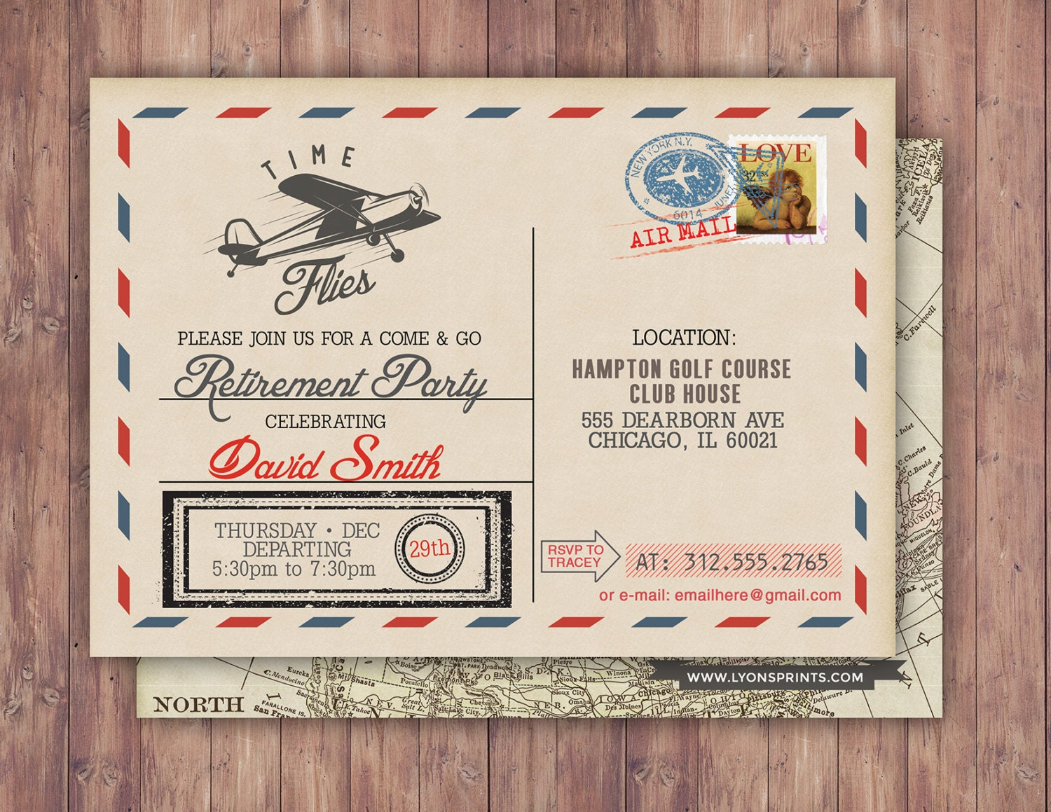Birthday Invitation Vintage Rustic Airplane Ticket Gallery Photo