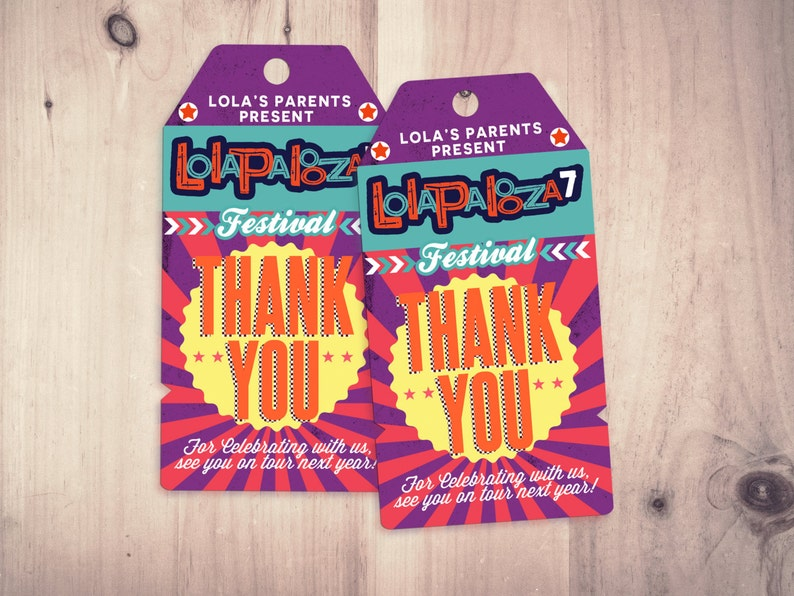 Favor tags ROCKSTAR Printable File Only  baby SAMPLE PHOTO 1