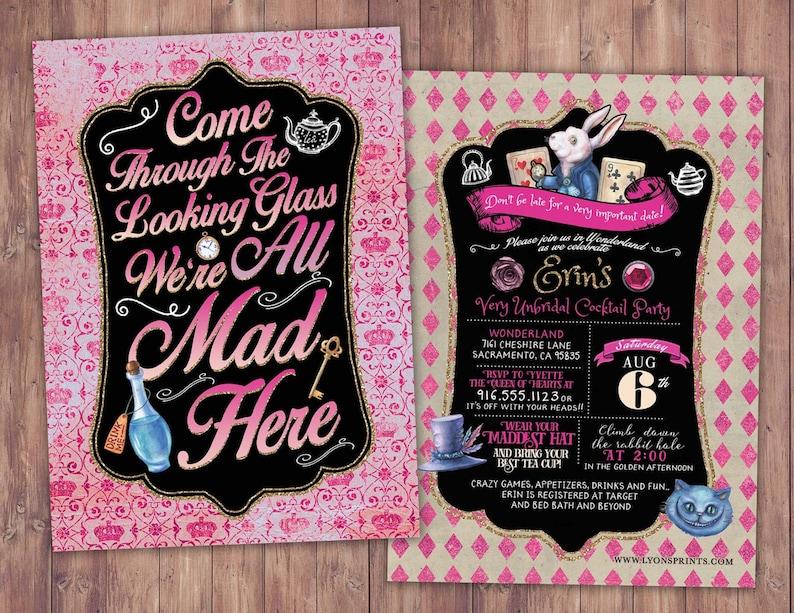 Bridal shower Mad Hatter Tea Party Alice in Wonderland image 0