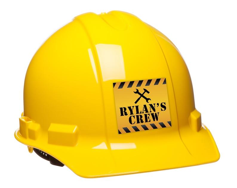 Digital sticker Favor label Under Construction Baby Shower image 0