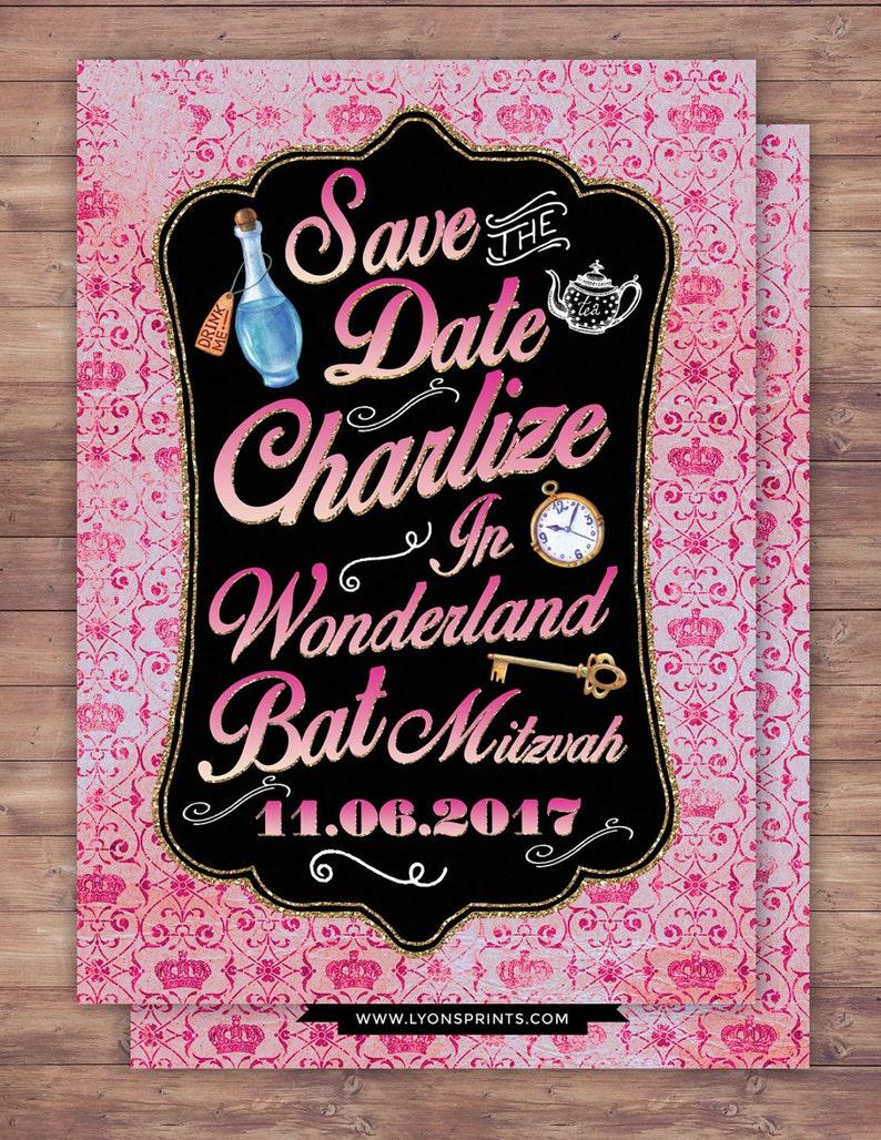Save the date Bat Mitzvah Bridal shower Birthday wedding image 0
