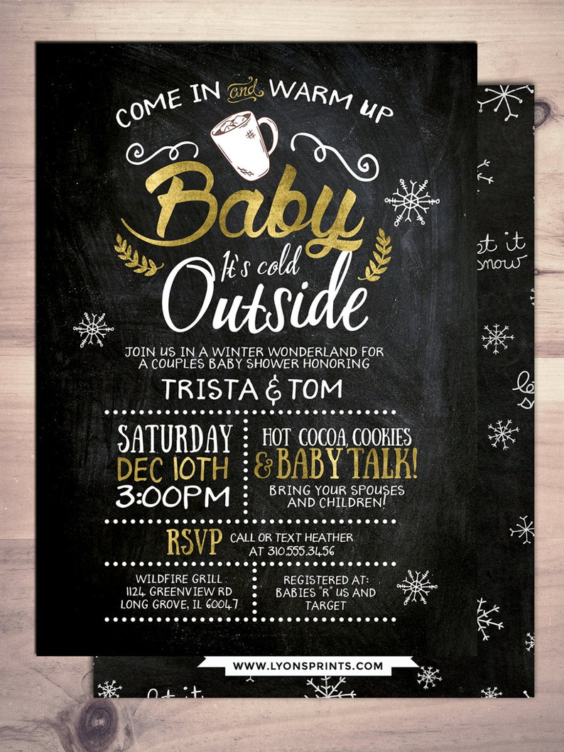 Baby it's cold outside invitation Winter baby shower image 0