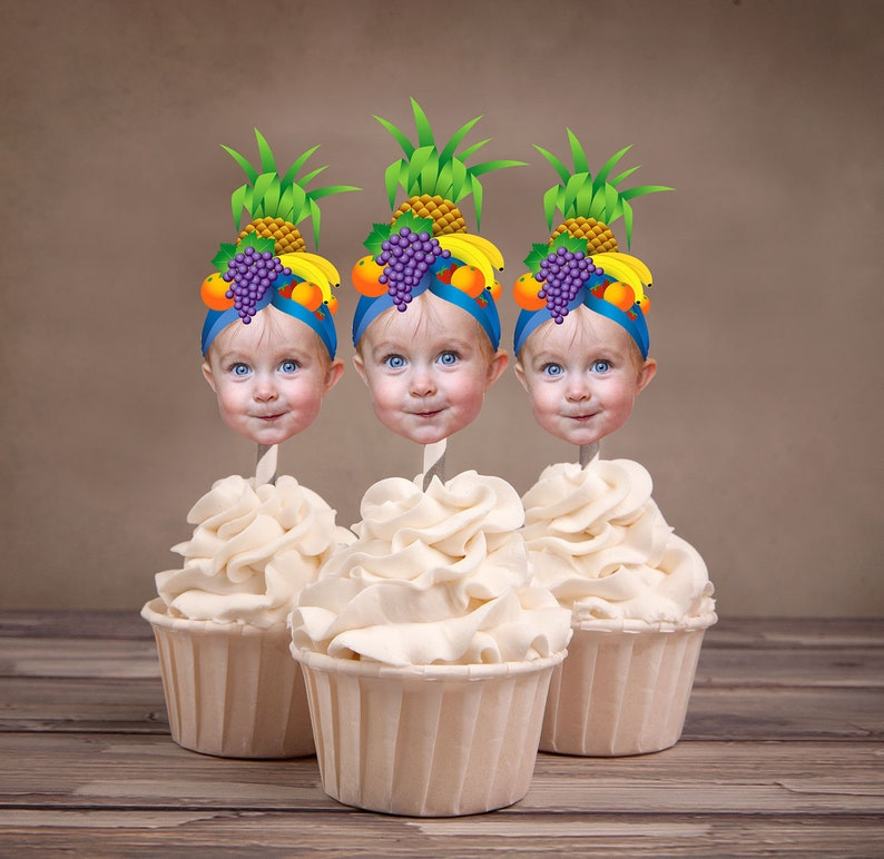 Digital File Photo Cupcake Toppers fruit toppers image 0