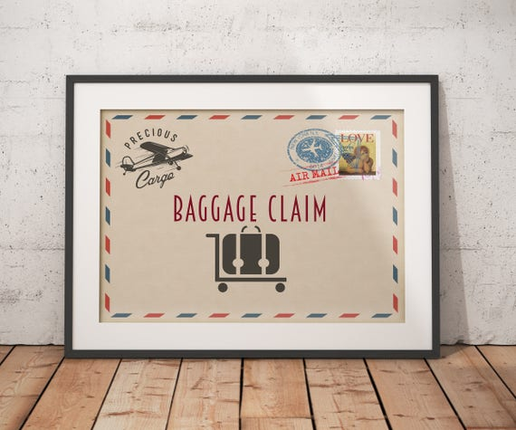 Precious Cargo shower game Advice sign and card table sign Post card Baby Shower vintage airplane