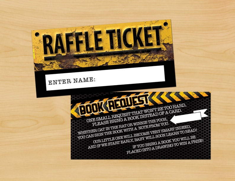 Baby Shower Diaper Raffle Ticket Construction Printable image 0