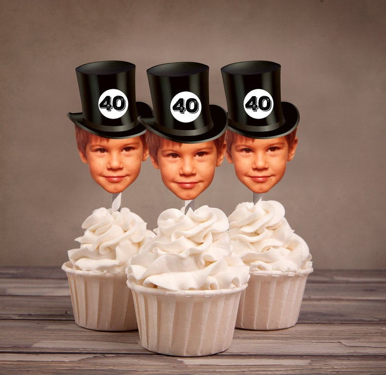 Digital Photo Cupcake Toppers cheers and beers image 0