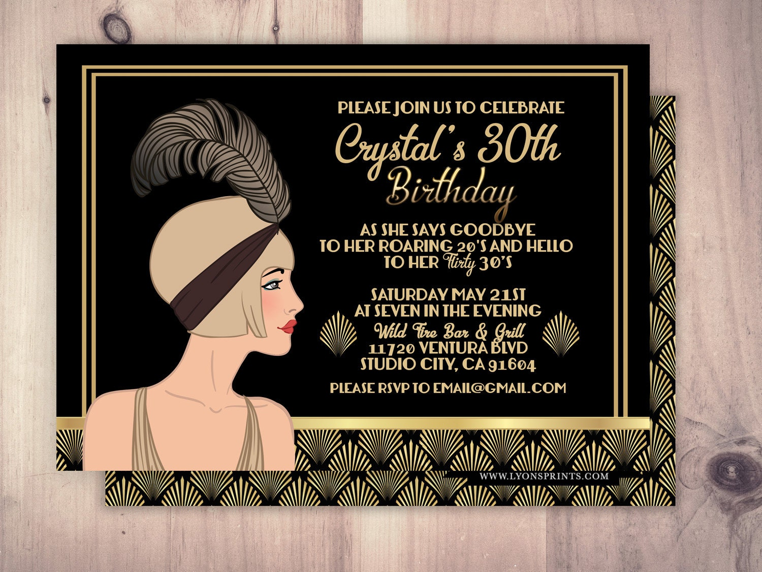 It's just a picture of Rare Gatsby Party Invitations