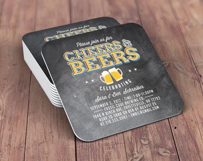 Digital logo file, brews before the I do's , Coed wedding shower invitation- Beer- Cheers & Beers  -  BBQ, bridal shower, wedding, coaster