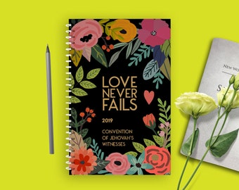2019 Love Never Fails Convention Enamel Pin Turquoise Floral   Etsy