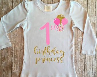 1st birthday girl - first birthday girl - pink and gold first birthday - pink and gold - first birthday outfit pink and gold - 1st birthday