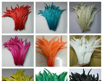 "10 OSTRICH Feather NANDU Trimmed FEATHERS 18-23/"" MANY COLORS Burlesque//Costume"