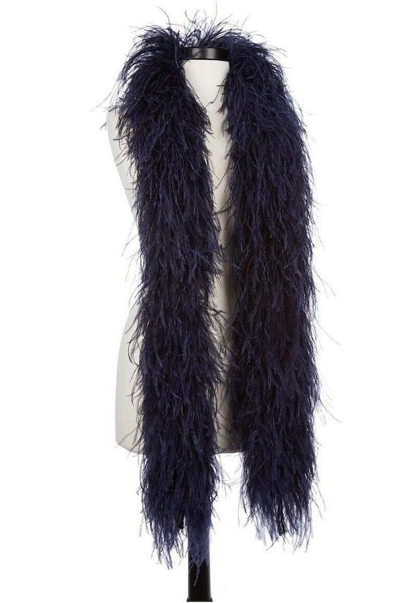 "4 Ply OSTRICH FEATHER BOA BLACK 2 Yards; Costumes//Craft//Bridal//Trim 72/"""