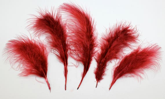 "PURPLE for Crafts Hats// Halloween 30 Pcs MARABOU PLUMAGE Feathers 2-5/"" Color"