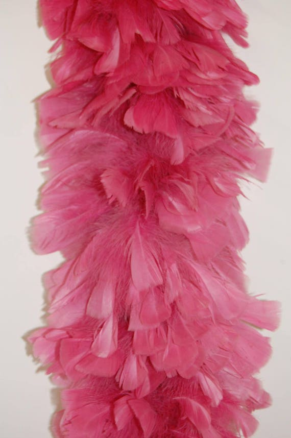 "HOT PINK 2 Yards 6-8/"" Feathers 150 Grams; Halloween//Costume//Bridal TURKEY BOA"