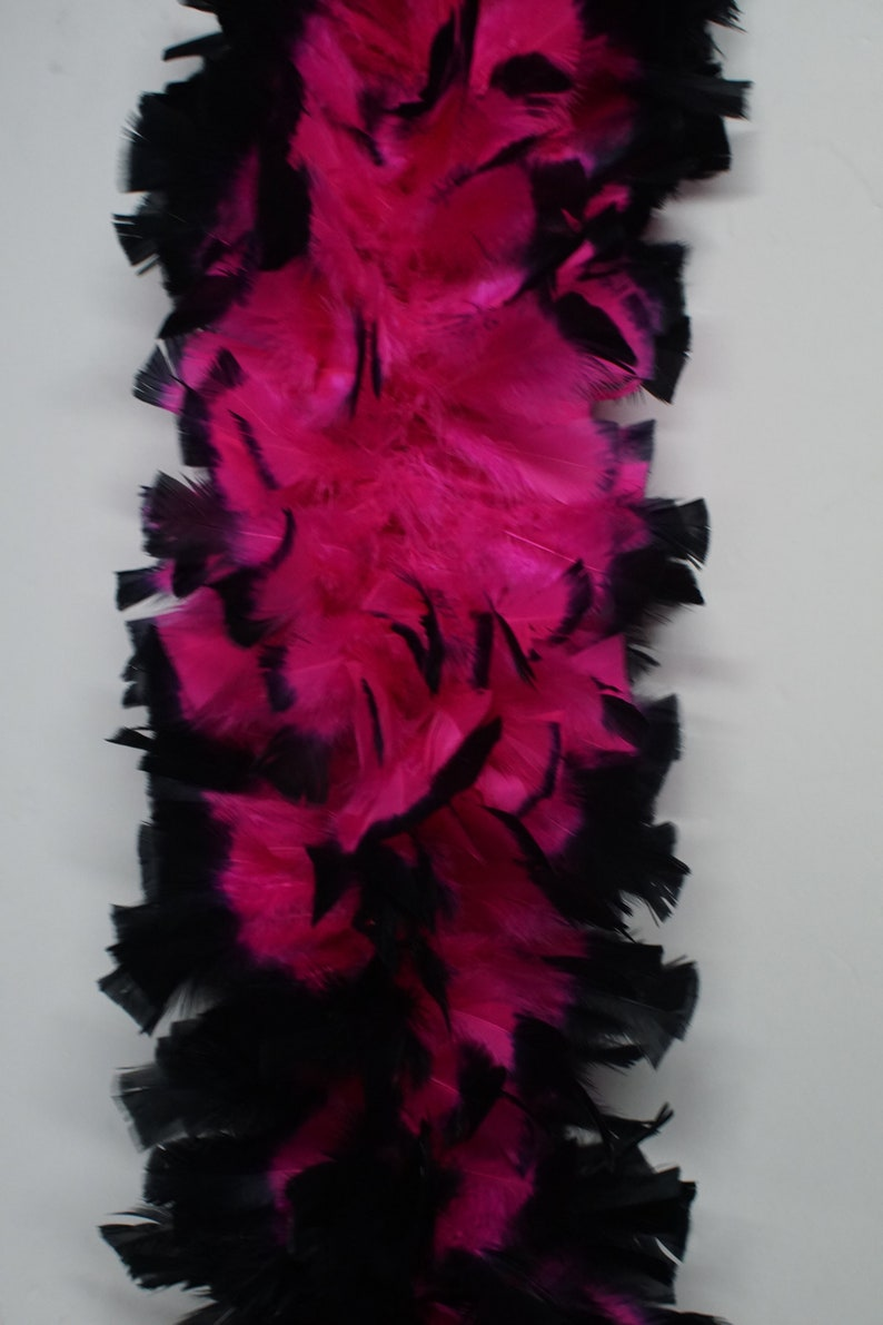 PinkBlack MIX 2 Yards TURKEY Feather Boa 12-14