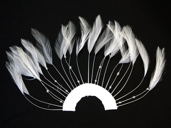 FUSCHIA Hackle Feathers; Headbands//Beads//Hats 6 Pieces FULL FEATHER PINWHEELS