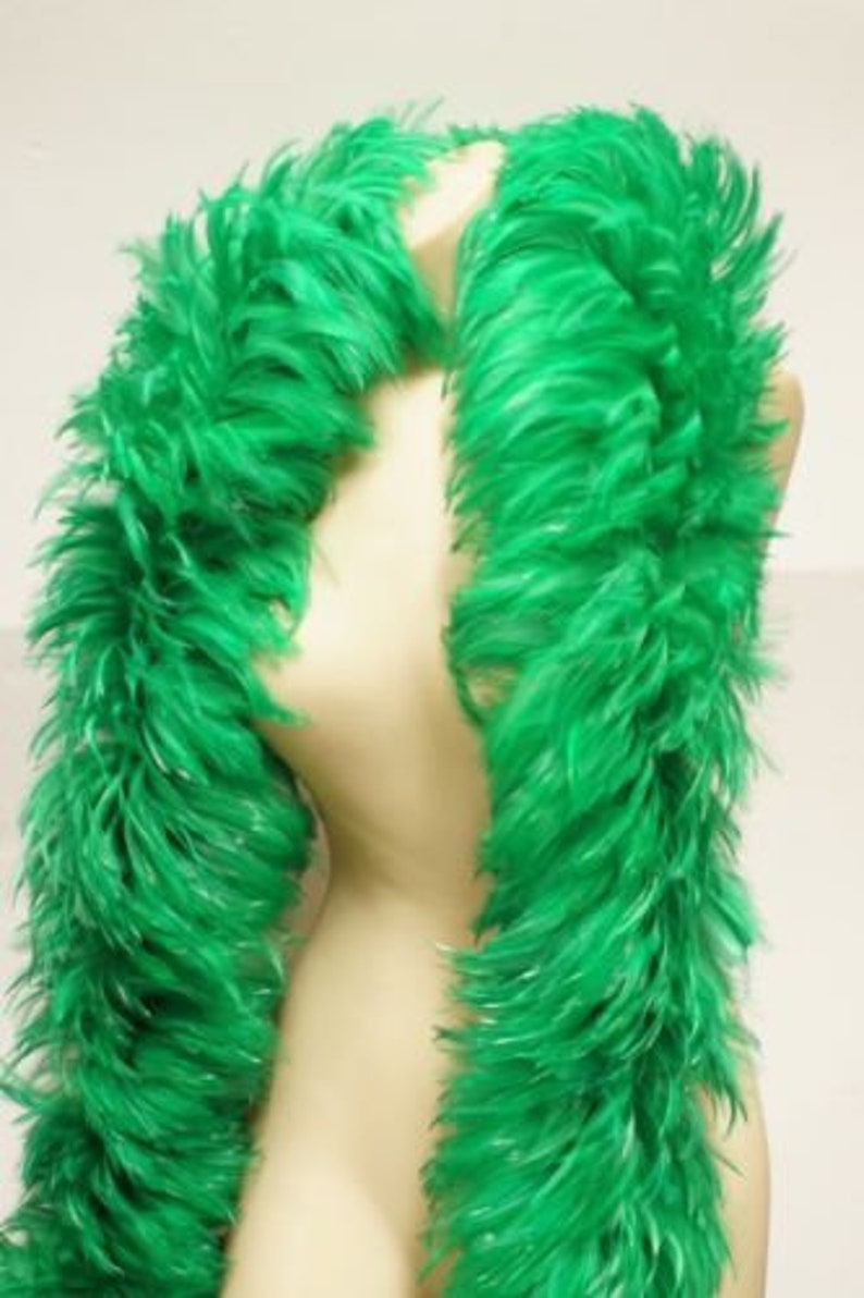 2 yards HACKLE BOA kelly green 4-6 Feathers