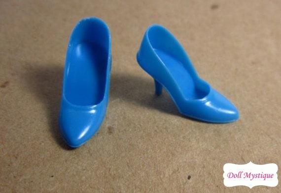 HTF Vintage Barbie Dolls Black OT Open Toe Shoes Heels JAPAN