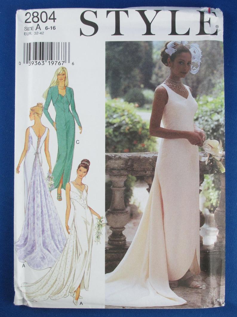 Style 2804 Misses Dress Bolero Jacket Sewing Pattern Uncut Sizes 6 To 16 Vintage