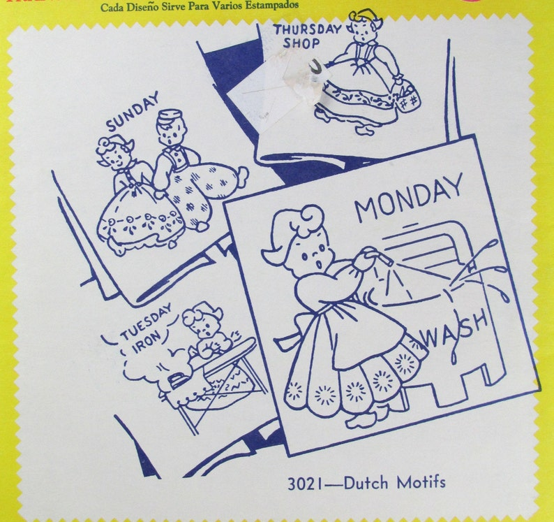 Aunt Martha/'s Hot Iron Transfers Dutch # 3021