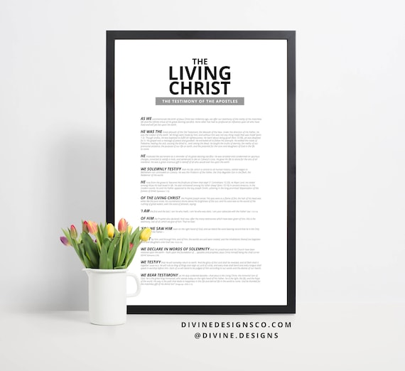 The Living Christ Printable Instant Download LDS Wall Decor | Etsy