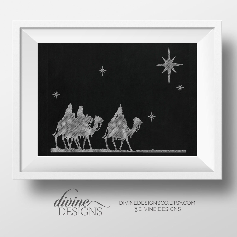 Weisen Szene Tafel Krippe Weihnachten Printables | Etsy
