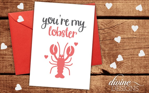 You're My Lobster Funny Valentine's Day Card Funny Etsy Unique Funny Love Quotes For Valentines Day