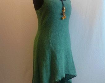 Natural Linen knitted dress, organic clothing, eco friendly, bio kleidung, womens linen dress, knit dress, natural clothing, crochet