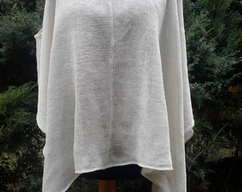 Natural Linen knitted blouse, tunic, organic clothing, eco friendly, womens linen clothing,natural clothing, blouse from flax, Leinenblus