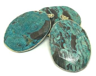 Blue stone pendant etsy popular items for blue stone pendant aloadofball Image collections