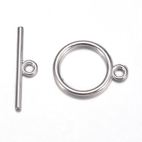 Lot of 10 Silvertone Clock /&  Toggle end caps for bracelet clasp  Sale!