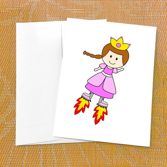 Funny Birthday Card For Her Cute Princess Card Skates Etsy