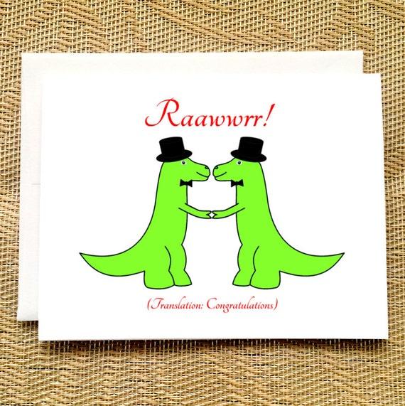 Lustig Gay Wedding Card Trex Hochzeit Dinosaurier Hochzeit Etsy