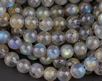 Full 10 Inch Strand 5mm size Rare Blue Flashy Labradorite Faceted Round BALLS Beads.Superb Quality as Photos.