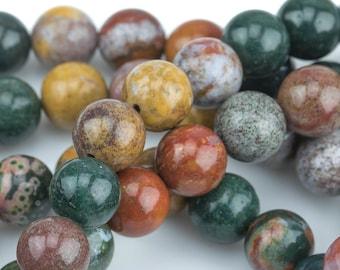 10mm- Full 15.5 Inch Strand Gemstone Beads Natural Monticara Jasper 8mm 6mm High Quality in Round