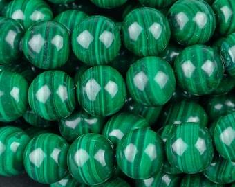 106081-1831 10MM Green Malachite Beads South Africa AA Genuine Natural Gemstone Full Strand Round Loose Beads 15.5 BULK LOT 1,3,5,10,50