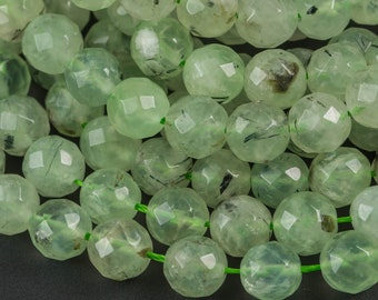 Natural Green Prehnite Beads Smooth Round Prehnite mineral beads A Grade High Quality jewelry supplies 4-6-8-10-12mm full strand 15.5